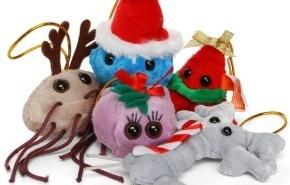 Peluches de Navidad de Microbios