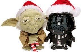 Peluches de Navidad Darth Vader y Yoda