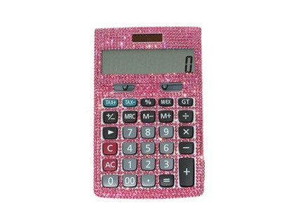 calculator pink flat