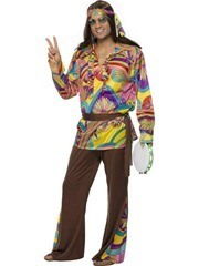 disfraz hippie años 70