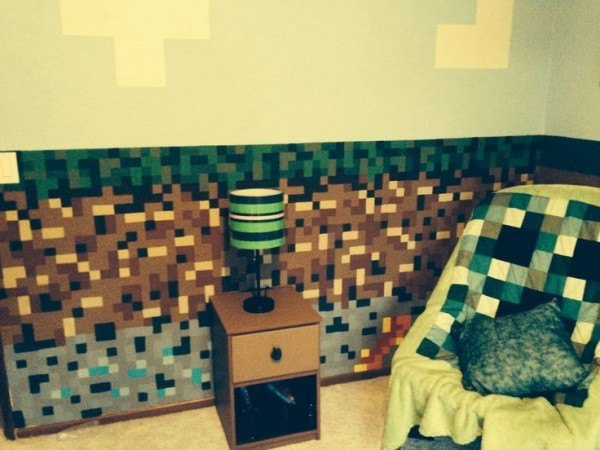 dormitorio decorar minecraft