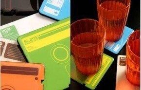 Posa Vasos de Diskettes