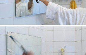 Limpiaparabrisas para el espejo, o espejo con limpiaparabrisas