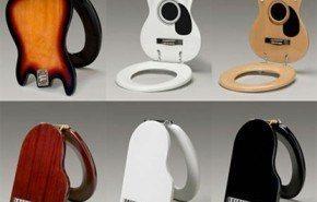 Asientos para inodoros con forma de instrumentos musicales