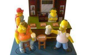 Despertador con los personajes de los Simpson