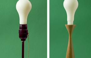 Velas con forma de lamparitas eléctricas